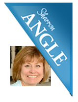 Sharron Angle logo and headshot