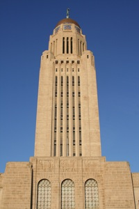 Capitol tower in Lincoln, Nebraska in daytime