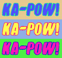 "Cartoonish rendering of the word ""KA-POW!"""