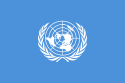 Blue flag of the United Nations