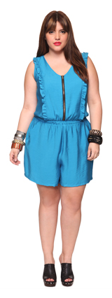 Blue ruffled romper