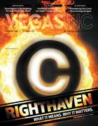 Cover of VEGAS INC with copyright symbol in flames