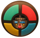 Electronic Simon game from the 1980s