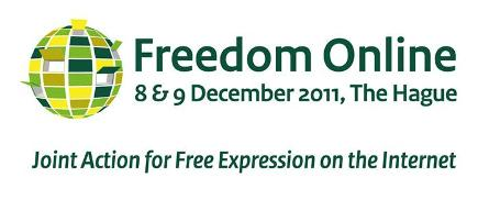 Logo for Freedom Online 8 & 9 December 2011 Joint Action for Free Expression on the Internet