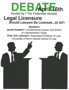 DEBATE April 16 - Legal Licensure: Should Lawyers Be LIcensed ... At All?