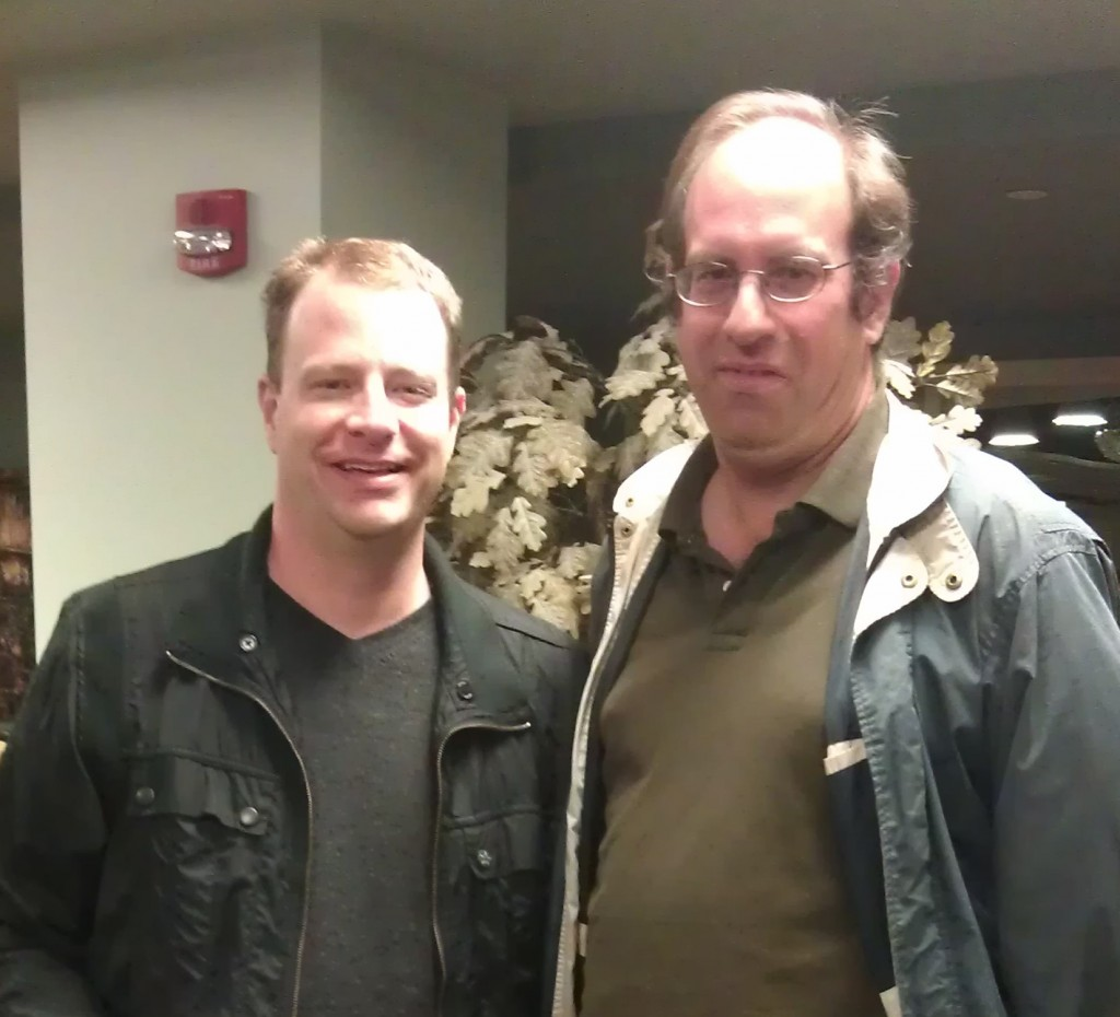 cell phone picture of Eric E Johnson and Eric P Robinson