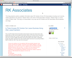 Screengrab of RK Associates blog