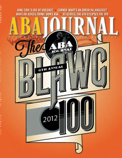 ABA Journal December 2012 cover