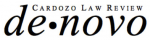 Cardozo Law Review de novo logo