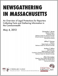 Newsgathering in Massachusetts cover